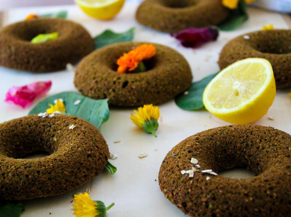 Vegan plant-based Oil-free donuts