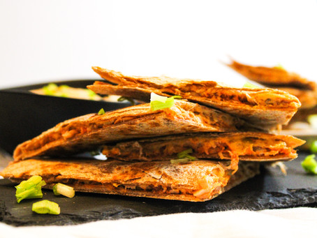Buffalo Jackfruit Quesadillas
