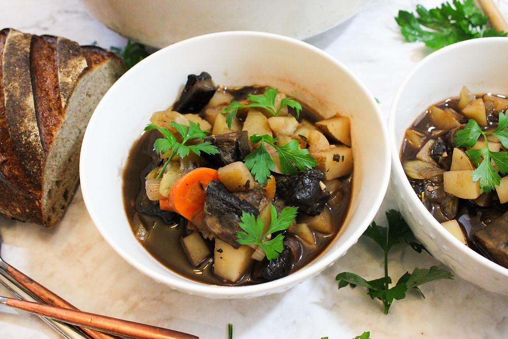 vegetable and portobello mushroom stew