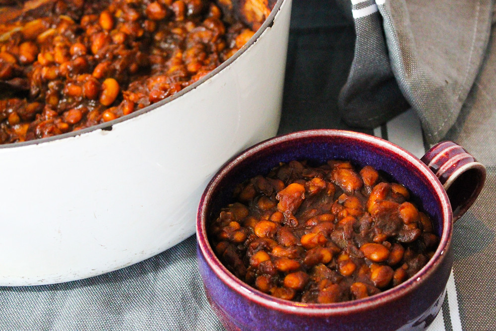 Plant-based baked beans
