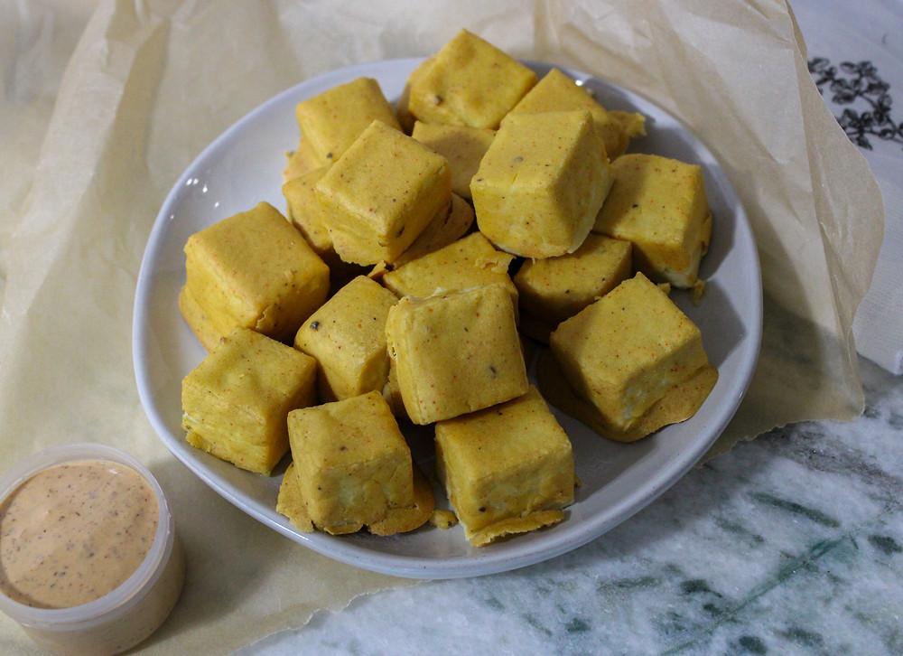 Oil-free gluten-free tofu nuggets