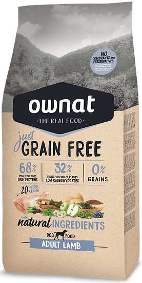 Ownat lamb grain free 14 kg