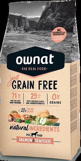 Ownat salamon & seafood grain free 14 kg