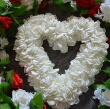 White Ruffle Heart