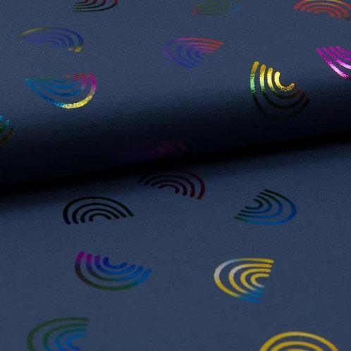 Foil Navy Rainbow