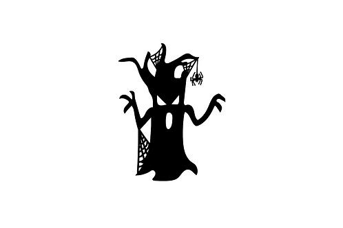 Glow in the Dark Spooky Tree Baby Vest