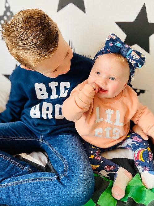 Babies Siblings Sweatshirt Set