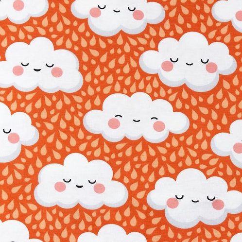 Happy Clouds in Orange