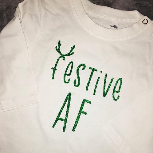 Festive AF Baby Vest Pre-Order