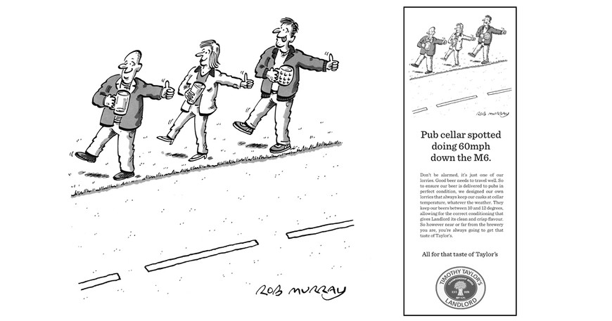 Timothy Taylor's print ad (commissioned by Sell! Sell! agency)