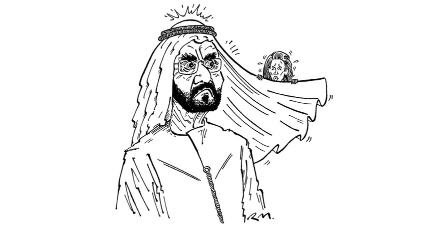 Sheikh Maktoum (commissioned by Private Eye)