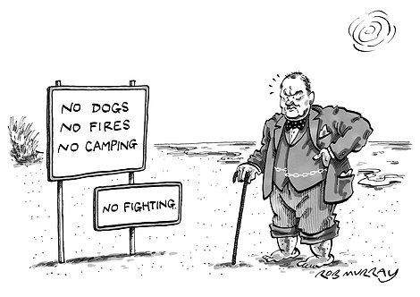 Churchill on the Beach