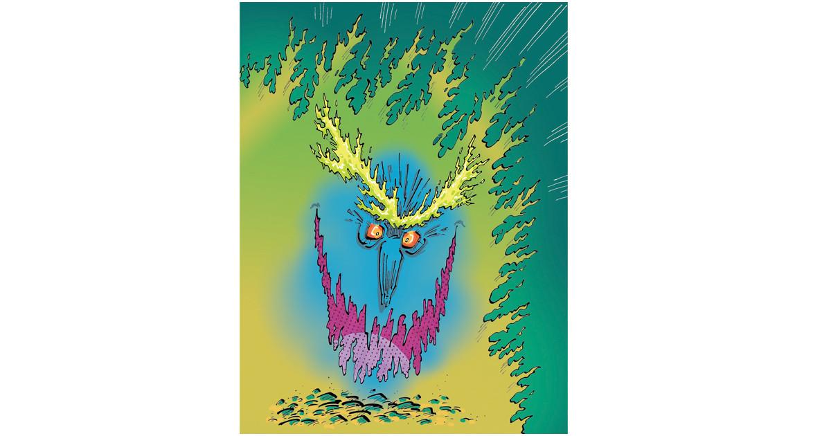 Sample illustration for 'Howl's Moving Castle' by Diana Wynne Jones