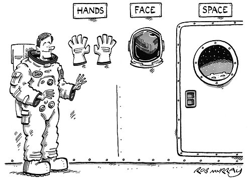 Hands, Face, Space