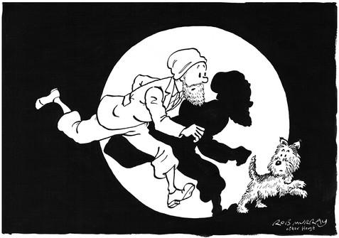 Tintin homage