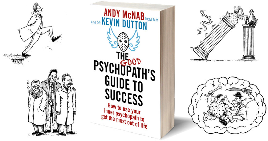 Selected illustrations from 'The Good Psychopath's Guide to Success' by Andy McNab & Kevin Dutton (Transworld/Penguin Random House)