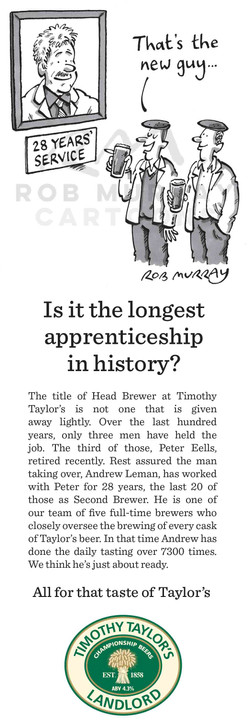 Timothy Taylor's Landlord - print ad