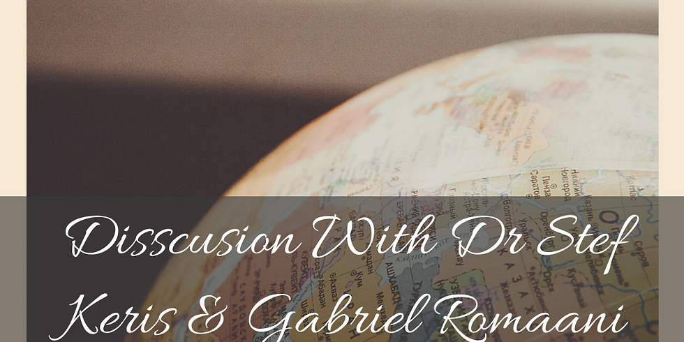 Discussion with Dr Stef and Gabriel Romaani Part 1