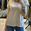 Thumbnail: Blusa Color Champagne  in Raso e Viscosa con bordo glitter oro cod. MD809