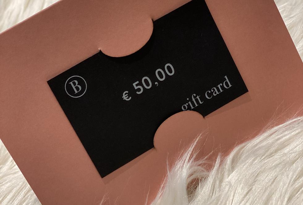 GIFT CARD - € 50