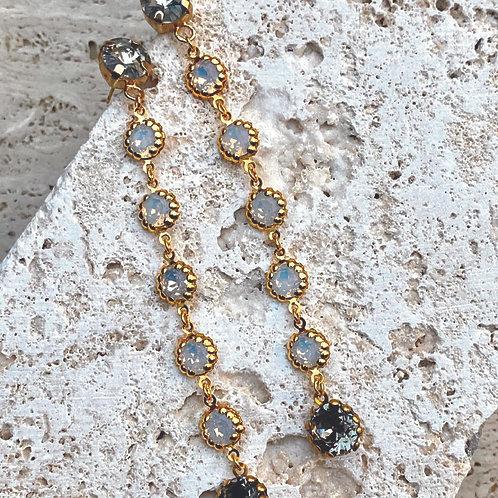 Orecchini pendenti con cristalli Opal