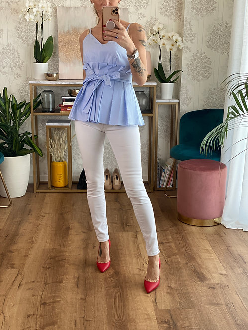 Jeans Super Skinny Bianco effetto Push Up
