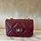 Thumbnail: Borsa Rosso Cartier Chanel Style Matelassé  in Pelle MISURA PICCO