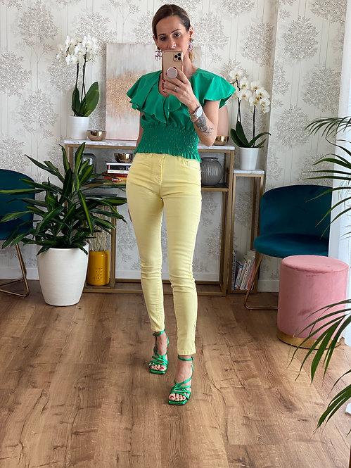 Jeans Super Skinny GIALLO TENUE  effetto Push Up