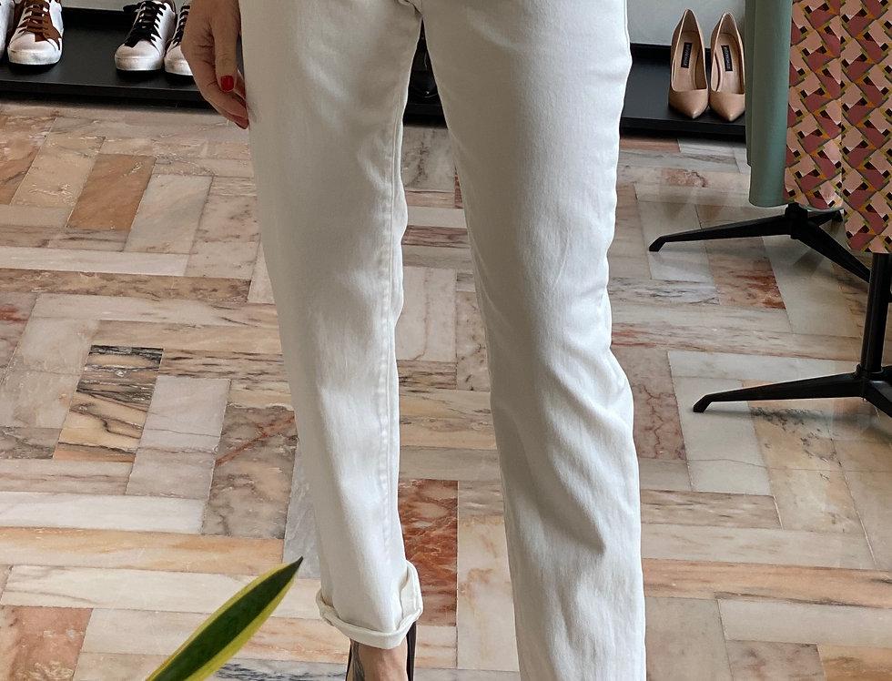 Pantalone Bianco cinque tasche cod.KKT03 - ULTIMA TG.40