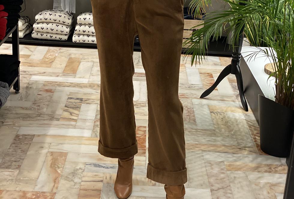 Pantalone Tabacco in Velluto  a costine cod.AD021