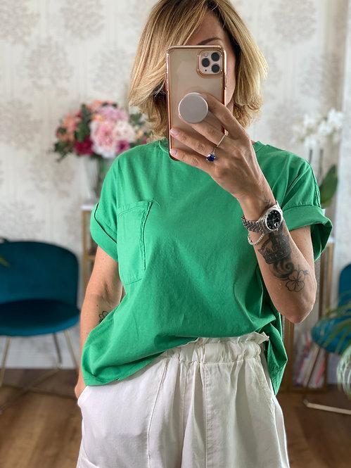 T-shirt 81 Verde Smeraldo  tg Unica