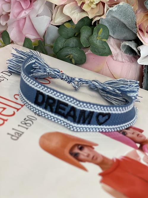 """BRACCIALE """"DREAM"""" DENIM"""