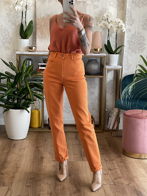 Pantalone Arancione cinque tasche cod.KKT03