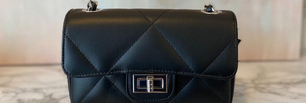 Borsa Nera Chanel Style Matelassé  in Pelle MISURA PICCOLA