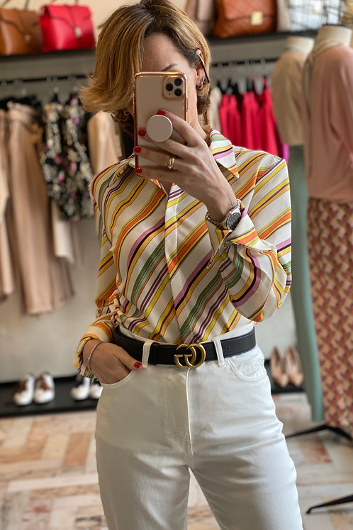 Camicia a Righe con colletto cod.KKG44G