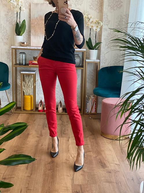 Pantalone Mod Chino color Rosso Cod. 8001