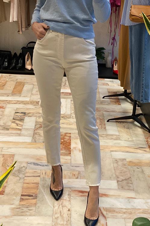 Pantalone Burro sfrangiato cod.X1416