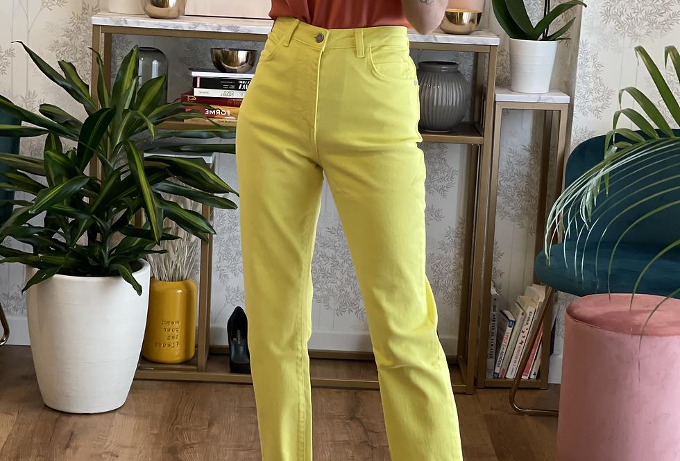Pantalone Giallo cinque tasche cod.KKT03 - ULTIMO TG.40