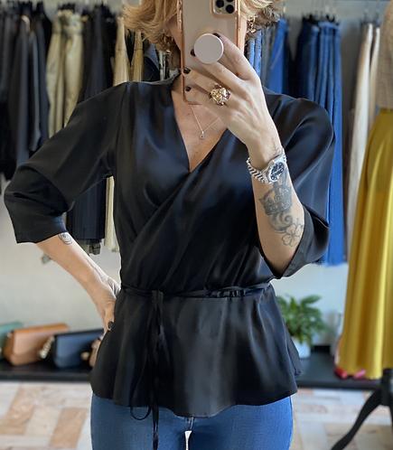 Blusa Kimono color Nero cod.MA9004