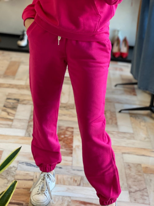 Pantalone Fucsia con coulisse cod.YD979 TAGLIA UNICA