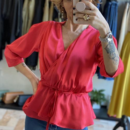 Blusa Kimono color Corallo cod.MA9004