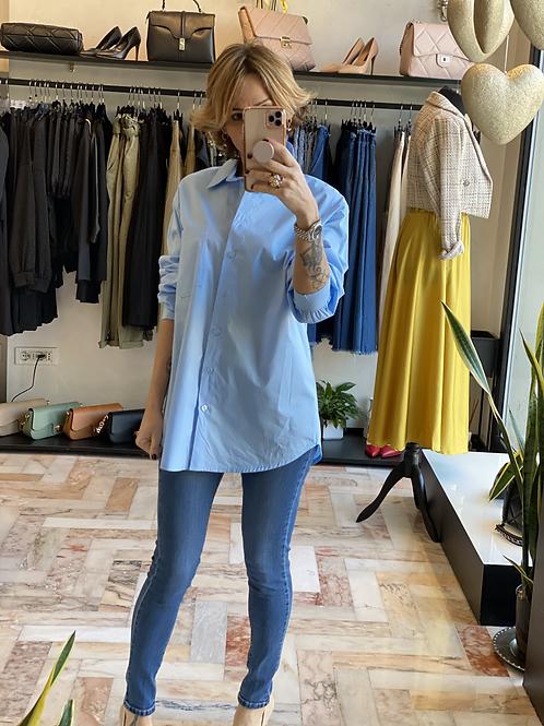 Camicia Azzurra con taschino cod.X916