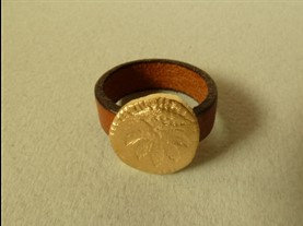 Leather Symbol ring