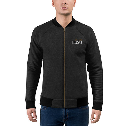 LUSU Designs Bomber Jacket Collection LUSU White Logo Label I