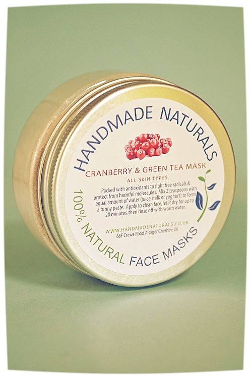 Anti-oxidant treat face mask CRANBERRY & GREEN TEA