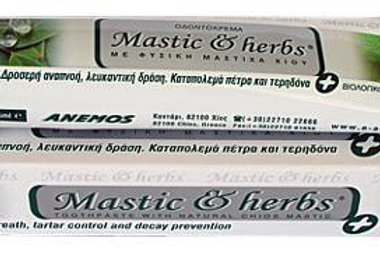 Toothpaste with pure mastic oil and bio spearmint