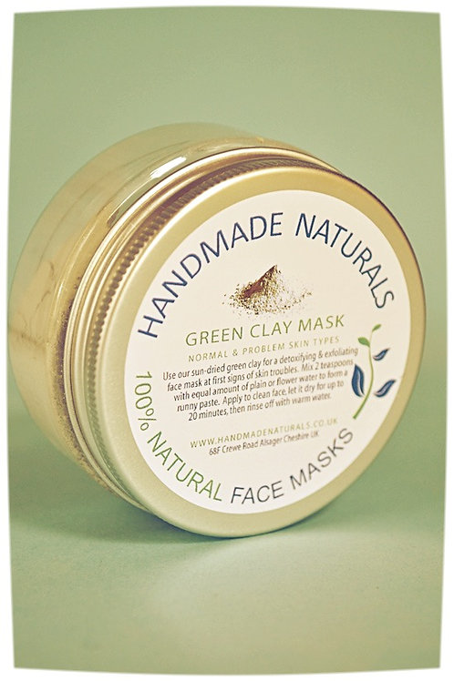 Detoxifying & exfoliating face mask GREEN CLAY