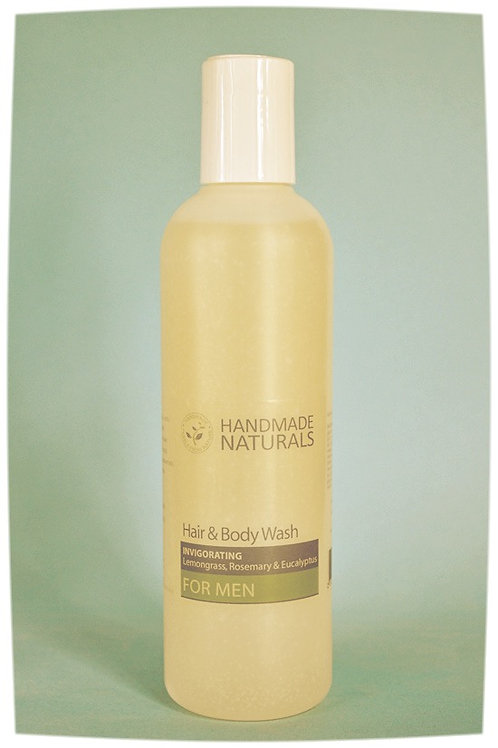 Invigorating Hair & Body wash for MEN with LEMONGRASS & EUCALYPTUS - 250 ml