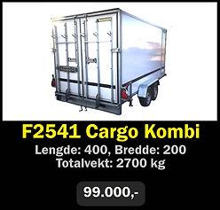 Tilhenger. Norgeshengern F2541 Cargo Kombi