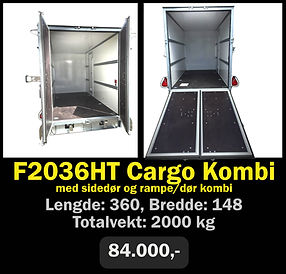 Tilhenger. Norgeshengern F2036 Cargo Kombi